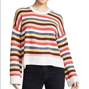 XS Madewell Multi Colored Striped Sweater